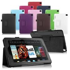 Folio Folding PU Leather Case Stand Cover fr 2014 Amazon Kindle Fire HD 7 Tablet
