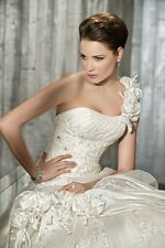New White or Ivory Wedding Dresses Gown Bride Dress Stock Size: 6 8 10 12 14 16