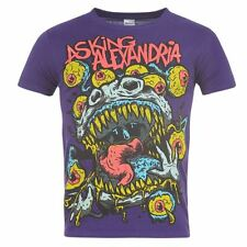 Official Mens Asking Alexandria Gents T-Shirt Tee Top Cotton Short Sleeve Tshirt