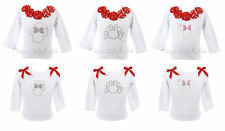 Minnie Mouse Bling & Bows Christmas Holiday L/S Top NWT *1-10* U Pick Style
