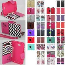 LG Ultimate 2 / L41C Cell Phone Case Hybrid PU Leather Wallet Pouch Flip Cover