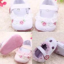 Newborn Baby Girl Floral Lace Princess Shoes Soft Comfty Sole Toddler Shoes 0-1Y
