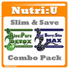 Acai Berry & Aloe Vera Detox Diet Colon Cleanse Extreme Weight Loss Fat Burner