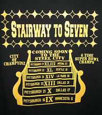 Stairway To Seven T-shirt Pittsburgh Steelers Sizes S-6XL Black & Gold
