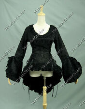 Victorian Gothic Steampunk Blouse Top Bodice Jacket Reenactment Clothing C001