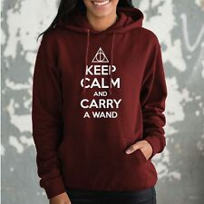 Keep Calm And Carry A Wand Hoody Harry Potter Hoodie Gift Idea