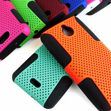 For Huawei Ascend Plus H881c Valiant Y301 APEX Hybrid Gel Mesh Hard Case Cover
