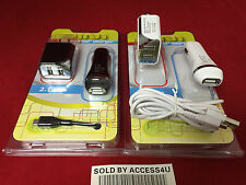 2.1 AMP USB CAR CHARGER & DUAL USB WALL ADAPTER FOR SAMSUNG GALXY NOTE 2 3 4 S5