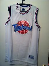 MICHAEL JORDAN #23 SPACE JAM TUNE SQUAD  BASKETBALL JERSEY WHITE S M L XL XXL
