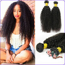 3 Bundle/150g Weave unprocessed Peruvian Human Hair Extension Kinky Curly Wefts