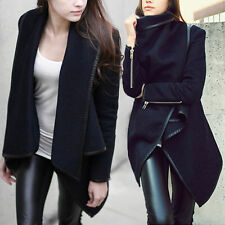 2014 Womens Slim WOOL Warm Long Coat Jacket Trench Windbreaker Parka Outwear