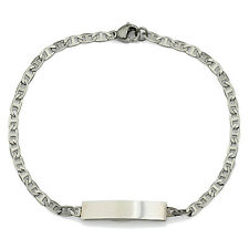 Ladies personalised engraved slim ID identity bracelet for women & gift box br86