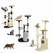 "Pawhut 55"" Cat Tree Condo Scratching Post Furniture Scratcher House Multi-colour"