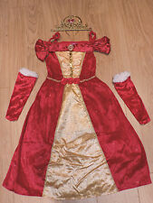 Disney Princess Belle Red fancy dress up BNWT 3-10yo Armlets Xmas Costume George