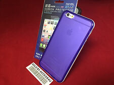 TRANSPARENT CLEAR PURPLE SILICONE HYBRID CASE FOR APPLE IPHONE 6 PLUS 6S PLUS