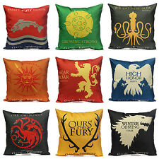 Thrones House Game of Sigils Home Decorative Flat Pillow case Cushion Cover NEW
