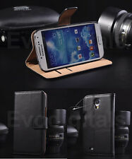 SAMSUNG GALAXY S3 S4 i9300 i9500 LUXURY GENUINE REAL LEATHER CASE WALLET COVER