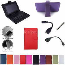 """Colorful Keyboard PU Leather Case+Pen For 7"""" EVGA TEGRA NOTE 7 Android Tablet PC"""