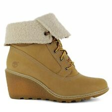 "Timberland Earthkeepers Amston 6"" Inch Women's Wedge Heels Wheat 8257A Boots"