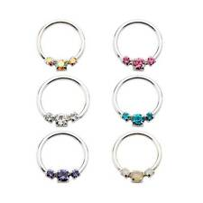 """Nose Ring Tragus Daith Helix Ear Cartilage Septum Sterling Silver Hoop 5/16"""" 18G"""