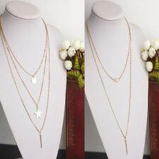 Fashion Multilayer Lucky Strip Crystal Lady Triangle Necklace Jewelry