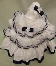DREAM BABY ROMANY BABY GIRL WHITE NAVY DRESS HBD ALL SIZES AVAILABLE