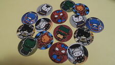 Pre Cut One Inch Bottle Cap Images! SUPER HERO HELLO KITTY FREE SHIP