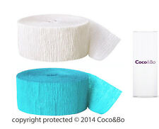 Coco&Bo Breakfast at Tiffany's Blue & White Party Streamers 160 ft Decoration