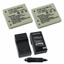 2x NB-4L Battery&Car Wall Charger For Canon PowerShot ELPH 100 300HS IXUS 130 IS