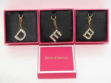 New in Box : JUICY Couture initial pave gold charm pendant : E, H, G, O, B, D