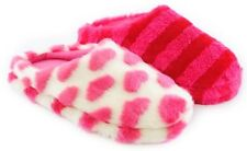 GIRLS FURRY MULE SLIPPERS SIZE 3/4 CHOOSE COLOUR (FT415Y)