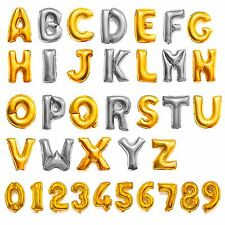Foil Balloons Decor Letter A-Z Number 0-9 Silver&Gold For Christmas Xmas Party
