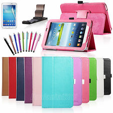 "Folio Leather Stand Case Cover For Samsung Galaxy Tab 3 7.0"" 7-inch Tablet P3200"