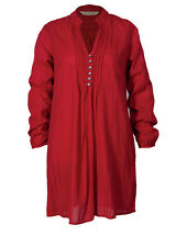 Nomads Long shirt Tunic Top FairTrade RED Print Cotton boho SALE  70% off RRP