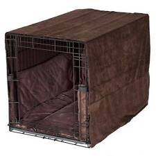 "Pet Dreams PLUSH 42"" Dog Pet Wire Crate Cage Cover Bumper Pad Bed Pillow Brown"
