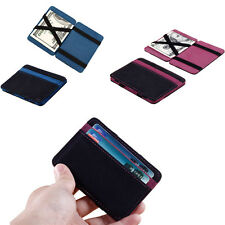 Latest Mini Neutral Grind Magic Bifold Leather Wallet Card Holder Wallet Purse