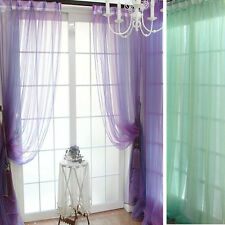 Sheer Voile String Door Curtain Window Room Curtain Divider Scarf Applied
