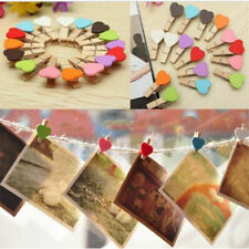 Cute Wooden Heart Mini Clip Wood Pegs Kid Craft Party Favor Supply 35mm 10/50Pcs