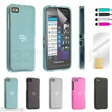 NEW Blackberry Z10 Crystal Gel Case Cover Including Stylus & Screen Protector