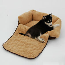 Pet Sofa Bed 3 Way Use Soft Warm Dog Cushion Puppy House Kennel Blanket Size S L
