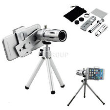 12X Zoom Camera Telephoto Telescope Lens + Tripod Mount For Mobile Cell Phone