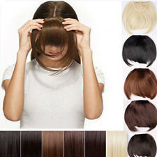 cute Pretty Girls Clip On Clip In Front Hair Bang Fringe Hair Extension Straight