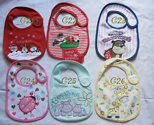 multi adorable infant baby toddle  boy girl dribble Feeding teething cotton bib