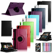 Rotating Magnetic Leather Case Cover Stand For Amazon Kindle Fire HDX 8.9'' 2013