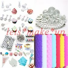 Fondant Cake Decorating Plunger cutters icing piping bags nozzles roller tools
