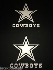(2) Dallas Cowboys Vinyl Car Window Sticker / Decal (4 Colors available)