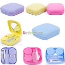 Popular Jelly Color Contact Lens Case Mirror Container Gift