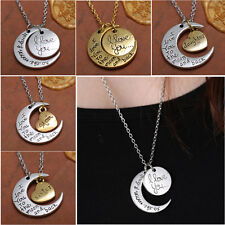 """I LOVE YOU TO THE MOON AND BACK "" 2015 New Family Necklace Pendant Gold/Silver"