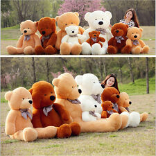 Hot 3Color Best Gift Cute Plush Love Sleepy Teddy Bear Huge Soft 100% Cotton Toy