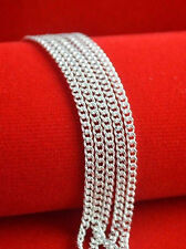Free shipping 5pcs 925 sterling plain necklace chain Hot Sale